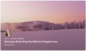 a course to decrease brain fog